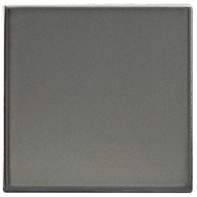 "EliteTile Mercury Metal 4"" x 4"" Glazed Porcelain Wall Tile in Silver"