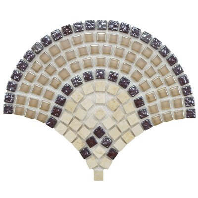 "EliteTile Sierra 9/16"" x 9/16"" Polished Glass, Stone and Metal Mosaic in Arch Spice"
