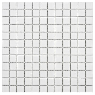 "EliteTile Artic 1"" x 1"" Porcelain Mosaic in White"