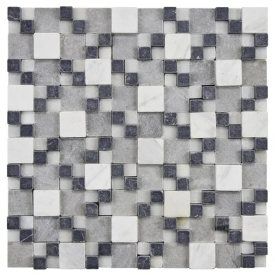 EliteTile Grizelda Random Sized Gaodi Natural Stone Mosaic in Charcoal