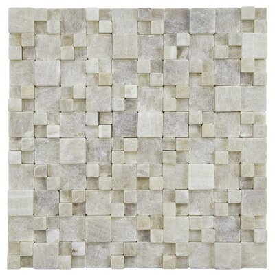 EliteTile Grizelda Random Sized Natural Stone Mosaic in Yellow Jade