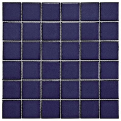 "EliteTile Pool 12-1/4"" x 12-1/4"" Porcelain Mosaic in Bering"