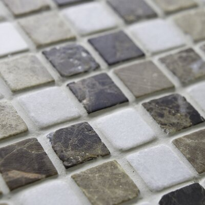 "EliteTile Grizelda Mini 5/8"" x 5/8"" Natural Stone Mosaic in Sand"