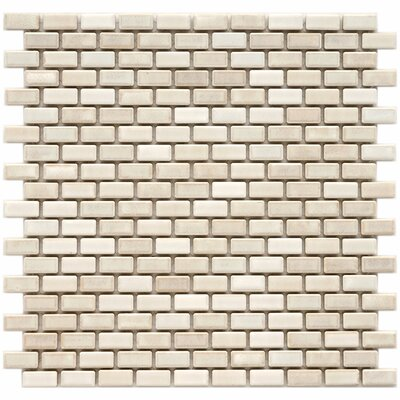 "EliteTile Arcadia 1"" x 1/2"" Glazed Porcelain Subway Mosaic in Glacier"