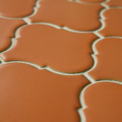 "EliteTile Beacon 3-1/4"" x 2-7/8"" Glazed Porcelain Mosaic in Terra Cotta"