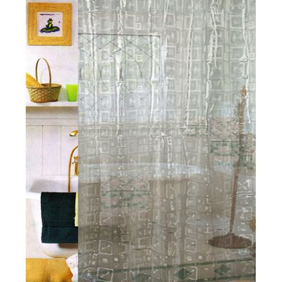 Geo 3 D Vinyl Shower Curtain