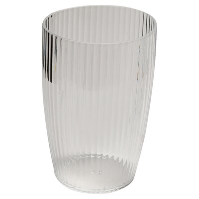 <strong>Carnation Home Fashions</strong> Acrylic Ribbed Waste Basket