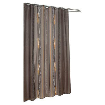 Carnation Home Fashions Catherine Extra Long Polyester Fabric Shower Curtain