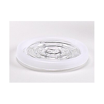 Carnation Home Fashions Clear Acrylic Bath Accessories with Frost Trim Collection
