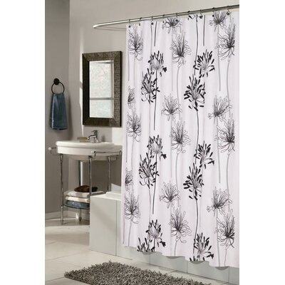 Cologne Polyester Fabric Shower Curtain with Flocking