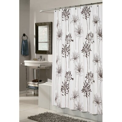Carnation Home Fashions Cologne Polyester Fabric Shower Curtain with Flocking