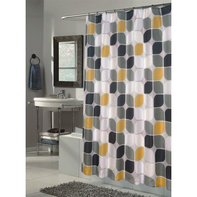 Carnation Home Fashions Metro Extra Long Fabric Shower Curtain