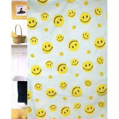 Carnation Home Fashions Happy Face Vinyl Shower Curtain