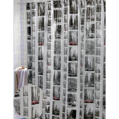 Carnation Home Fashions New York Vinyl Shower Curtain