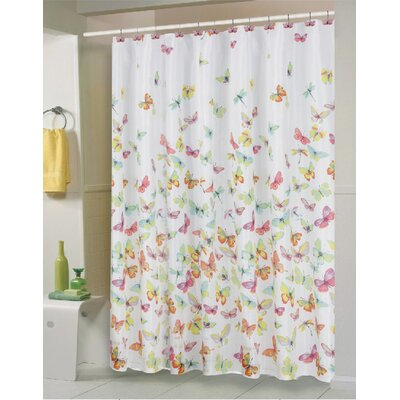 Carnation Home Fashions Shannon Polyester Shower Curtain