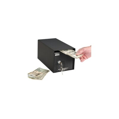 Perma-Vault Horizontal Mount Front Loading Key Lock Commercial Depository Safe