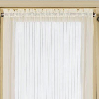united curtain co batiste half rod pocket door curtain panel reviews wayfair. Black Bedroom Furniture Sets. Home Design Ideas