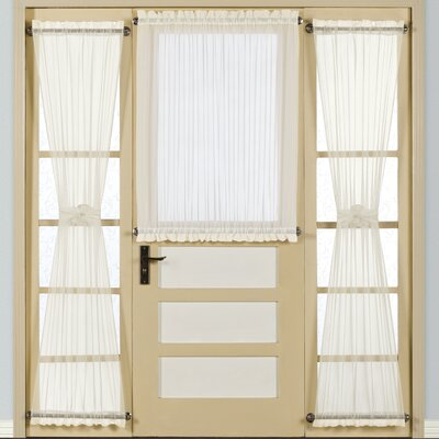 United Curtain Co. Batiste Half Rod Pocket Door Curtain Single Panel