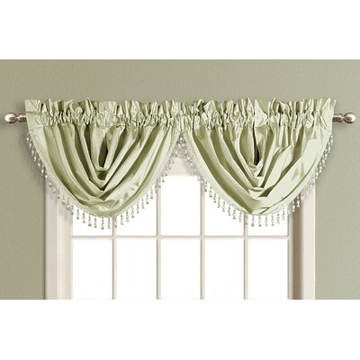"United Curtain Co. Anna Waterfall 50"" Curtain Valance"