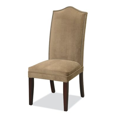 Upholstered dining chair wooden dining room chairs for High back parsons chair