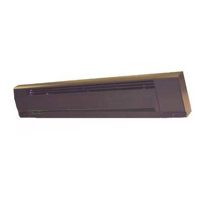 TPI Architectural Style Electric Baseboard Heater in Commercial Brown