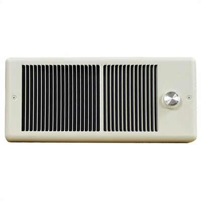 TPI Low Profile Fan Forced Electric Space Heater with Double Pole Thermostat