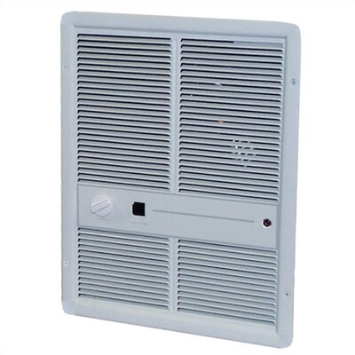 TPI Double Pole 10,240 BTU 12.5 Amp Fan Forced Wall Electric Space Heater with Summer Fan Forced Switch