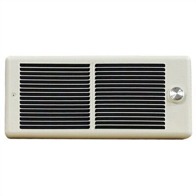 TPI Register Style 6,826 BTU Fan Forced Electric Wall Space Heater with Wall Box