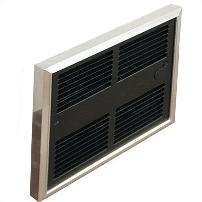 TPI Low Profile Commercial Single Pole Fan Forced Electric Wall Space Heater with Wall Box