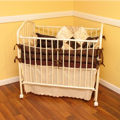 Ozark Mountain Kids Chocolate Dreams 4 Piece Porta Crib Bedding Set