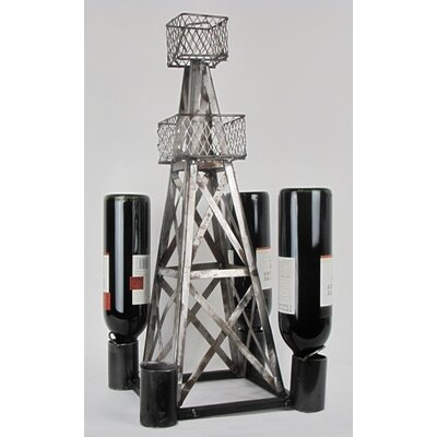 Handmade Oil Derrick Tabletop Wine Rack