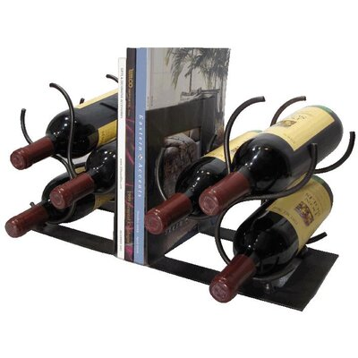 Metrotex Designs Bookends 3 Bottle Tabletop Wine Rack (Set of 2)