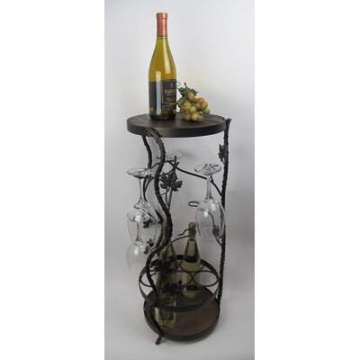 Metrotex Designs French Vineyard 7 Bottle Wine Rack