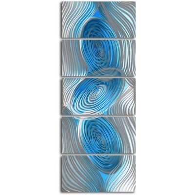 "My Art Outlet ""Decibels Dancing"" 5 Piece Contemporary Handmade Metal Wall Art Set"