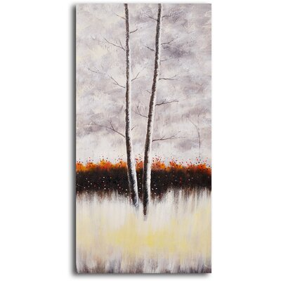 "My Art Outlet Hand Painted ""Snow and Earth"" Oil Canvas Art"