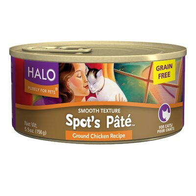 Halo Pets Spot's Pate Ground Recipe Wet Cat Food (Case of 12)