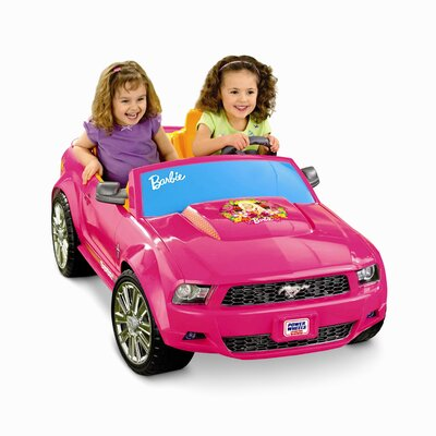 Fisher-Price Power Wheels Barbie Mustang 12V Battery Powered Car