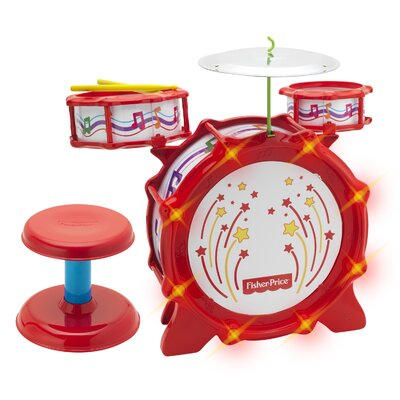 Fisher-Price Big Bang Drum Set with Flashing Lights