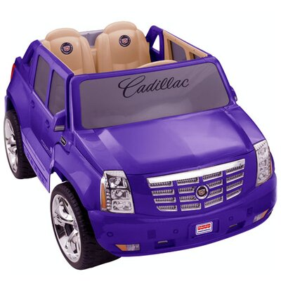 Power wheels power wheels purple cadillac escalade toys for Fisher price motorized cars