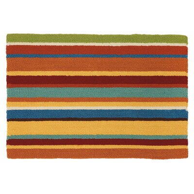 Cabana Orange Stripe Rug