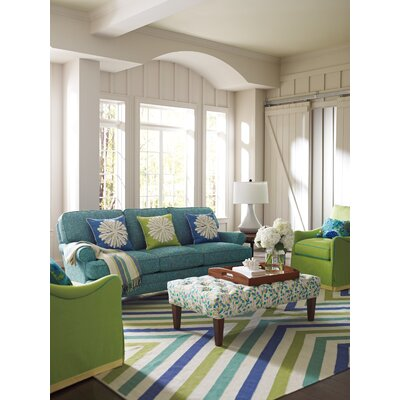 Capri Blue Chevron Rug