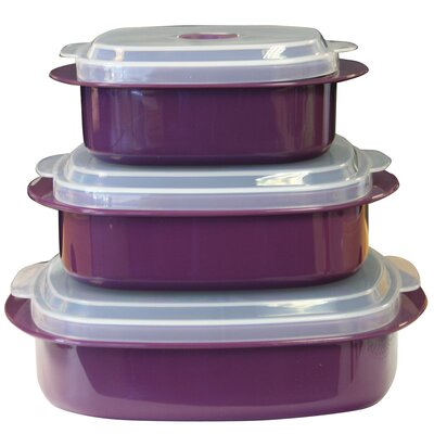 Calypso Basic Microwave Cookware and Storage Set in Plum