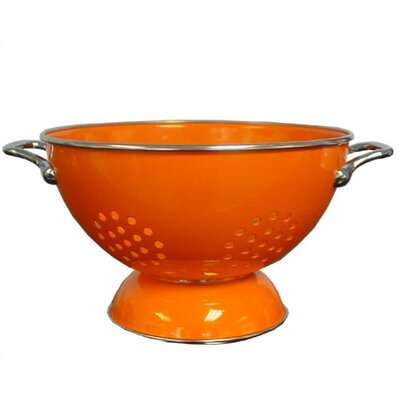 Reston Lloyd Calypso Basics 3 quart Colander in Orange with optional Accessories