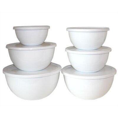 Calypso Basics 12 Piece Bowl Set in White