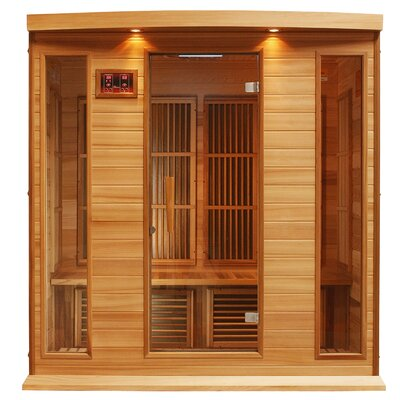 4 Person Far Infrared Carbon Red Cedar Sauna