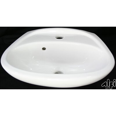 Small Wall Mount Bathroom Sink with Overflow - AB106