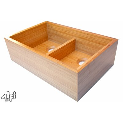 "Alfi Brand 32.63"" x 21"" Double Bowl Kitchen Sink"