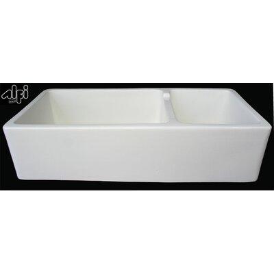 2 Bowl Farmhouse Sink : 39.5