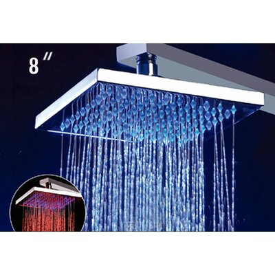 "Alfi Brand 8"" Square LED Rain Shower Head"