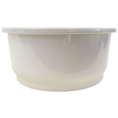 "Alfi Brand 18.25"" x 18.25"" Round Undermount Fireclay Bar Sink"